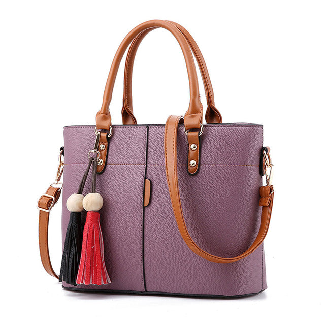New Large Capacity Tassel Tote Women Handbags