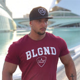 Short sleeve bodybuilding Crossfits T-shirts - Shade & watches