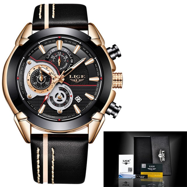 Leather Military Waterproof Men's Sport Watches - Shade & watches