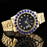 Men's Glass Stainless steel Sport Gold Watches