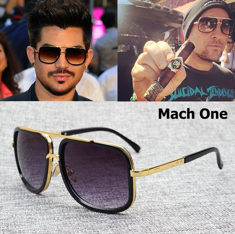 Men's Fashion Gold color Aviation Sunglasses - Shade & watches
