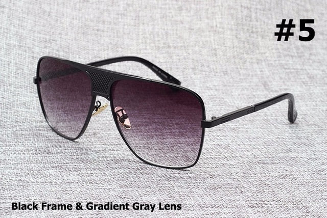 Metal Alloy Frame Gradient Men's Sunglasses - Shade & watches