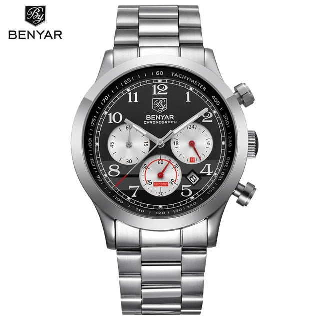 2019- Stainless Steel Sports Waterproof Men's Watches - Shade & watches
