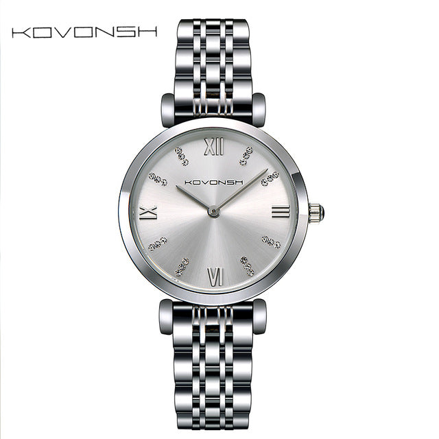 Luxury Fashion Stainless steel Women Watches