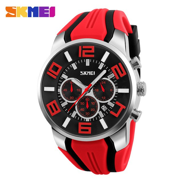 Stylish Red Fashion Waterproof Sports Watches - Shade & watches