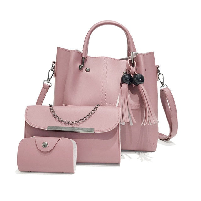 3/Pcs Leather Women Shoulder & Handbags - Shade & watches