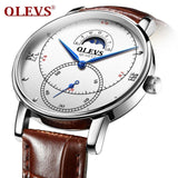 Ultra thin Automatic Date Luxury Leather Men's Watches - Shade & watches