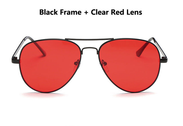 2019- Classic Fashion Clear Red Sunglasses for Women - Shade & watches