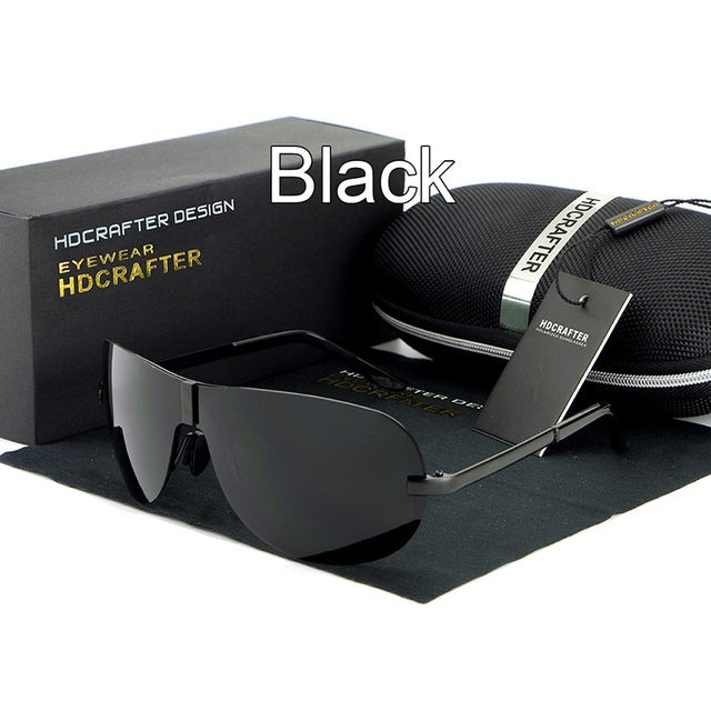 New fashion Rimless Polarized UV400 Sunglasses for Men's - Shade & watches