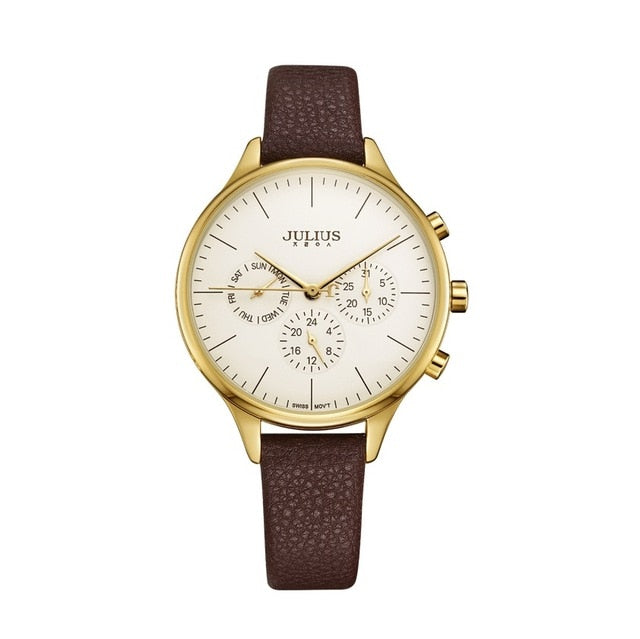 Luxury Chronograph Silver Rose Gold Women Watches