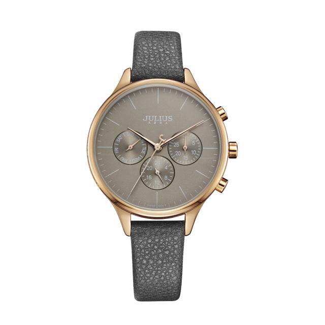 Luxury Chronograph Silver Rose Gold Women Watches - Shade & watches