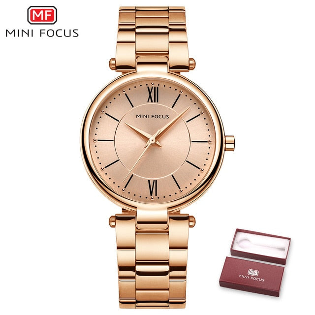Women Fashion Stainless Steel Quartz Watches - Shade & watches
