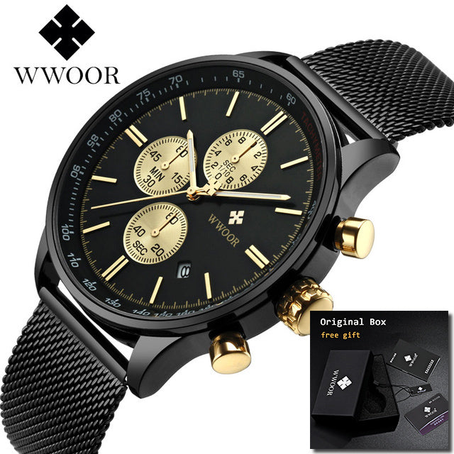 Luxury Gold - Men's Waterproof Stainless Steel Watches - Shade & watches
