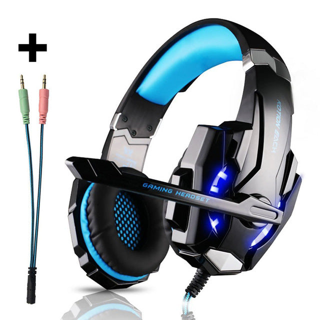 PlayStation 4 smartphone Earphone With Mic LED Light - Shade & watches