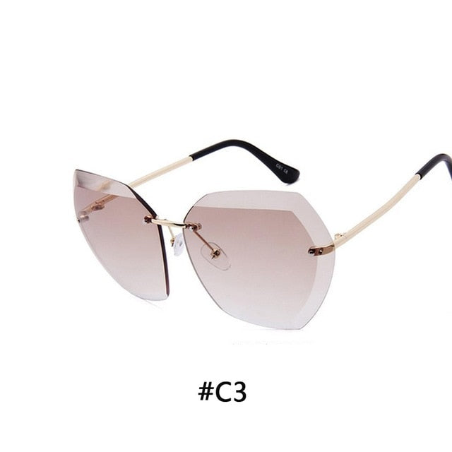 Top Sell- Luxury Vintage Rimless sunglasses