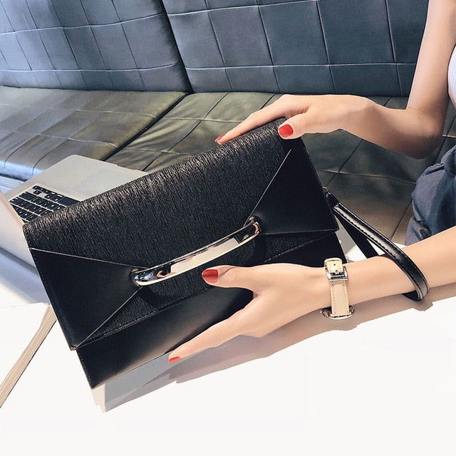 Women clutch leather Black Shoulder & Handbags - Shade & watches