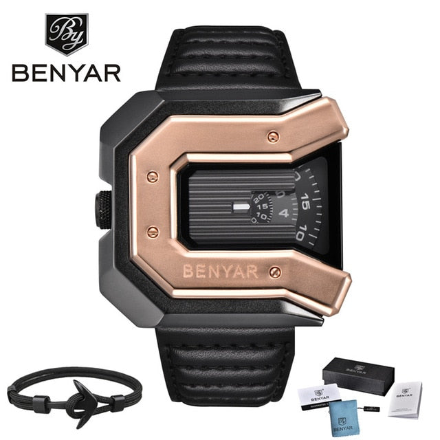 Luxury Brand Waterproof Leather Men's Watches