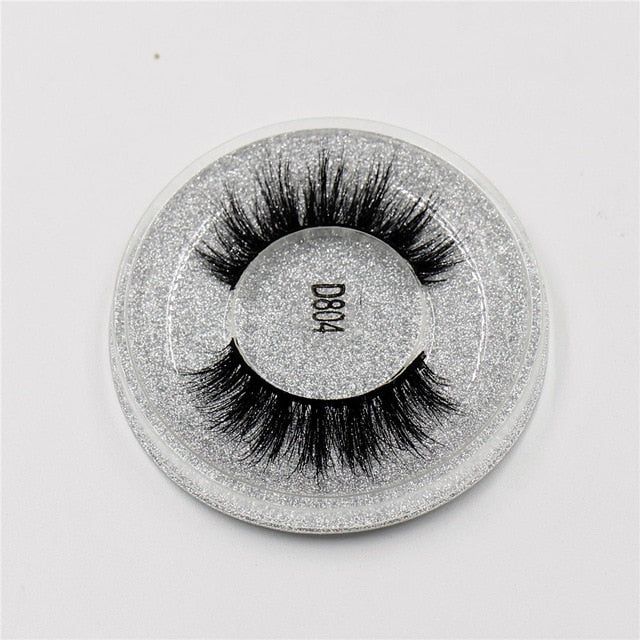 3D Mink eyelashes Thick HandMade Full Strip - Shade & watches