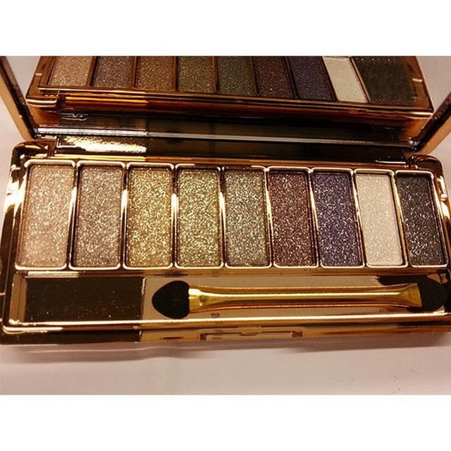 9 colors matte eyeshadow palette glitter - Shade & watches