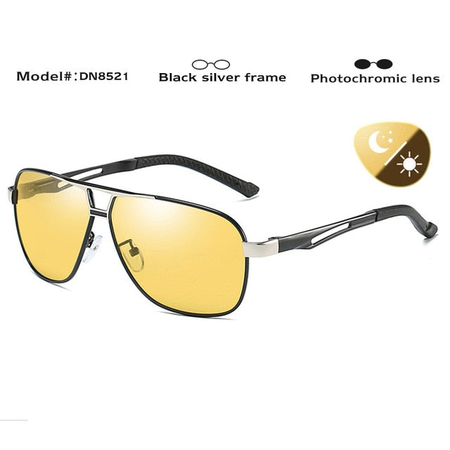 HD Day & Night Photochromic Polarized Men's Sunglasses - Shade & watches