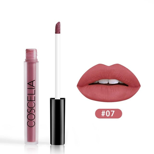 15 Colors Waterproof Matte Red Lipstick