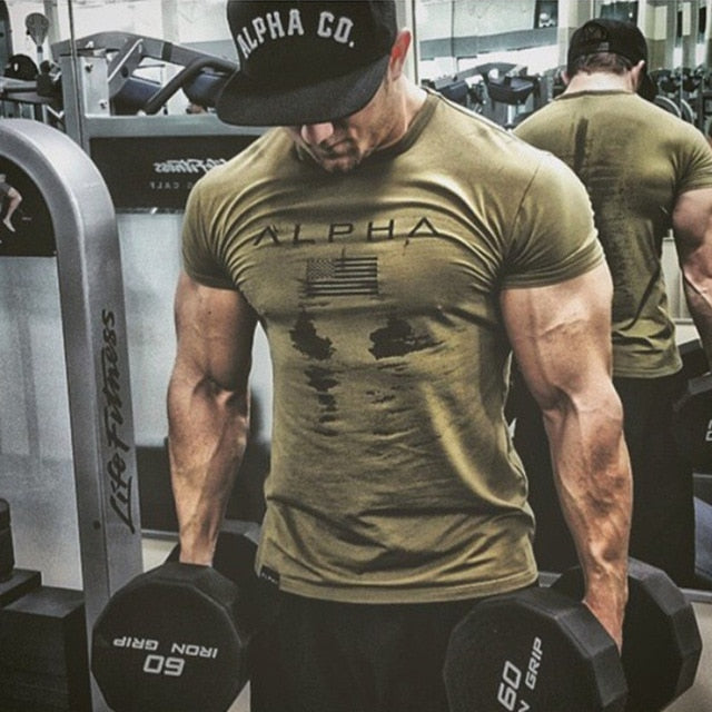 Men's Fitness tight T-shirts