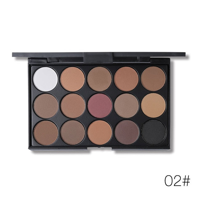 New 15 Earth Color Shimmer Matte Eyeshadow - Shade & watches