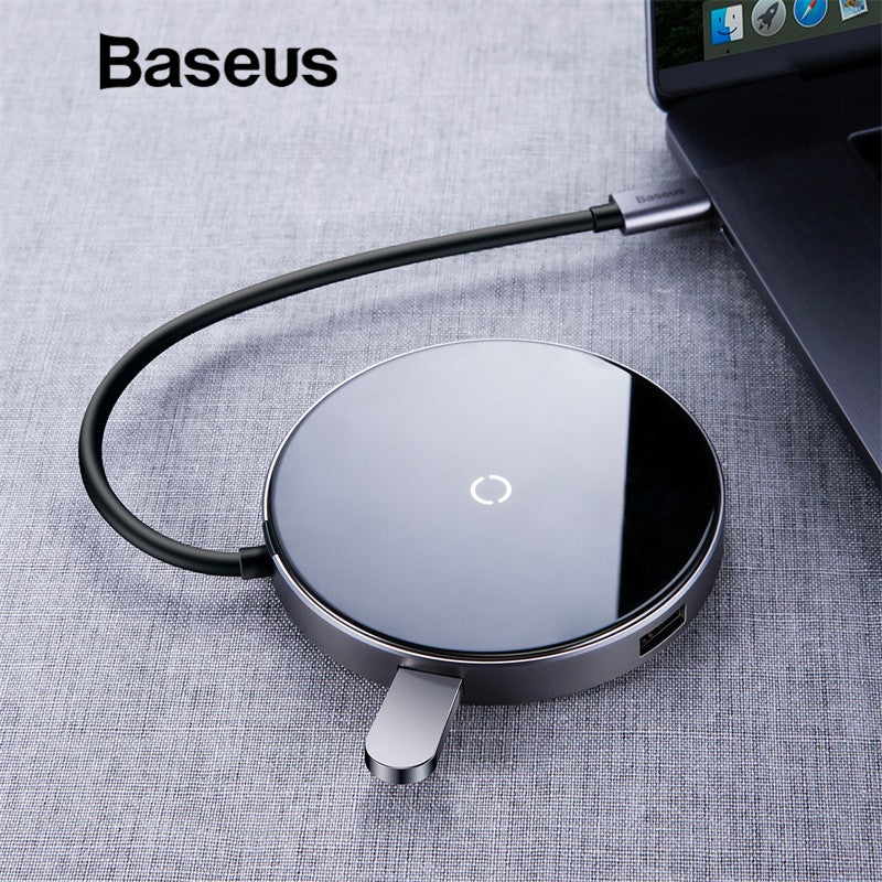 Macbook Pro HUB Adapter Qi Wireless Charger for iPhone