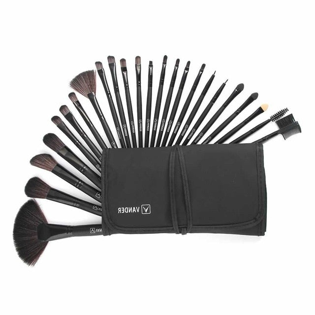 Professional 24pcs Eye Shadow Makeup Lip Brush
