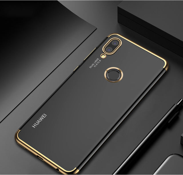 Soft Silicon Transparent Case for HUAWEI nova - Shade & watches