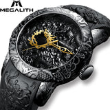 Fashion Gold Dragon Sculpture Watches for Men's - Shade & watches
