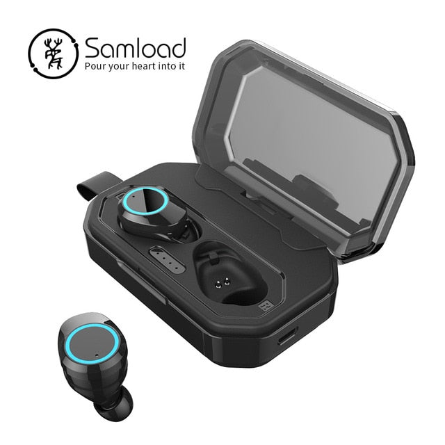 5.0 Bluetooth 3D Deep bass Cordless Earphones - Shade & watches