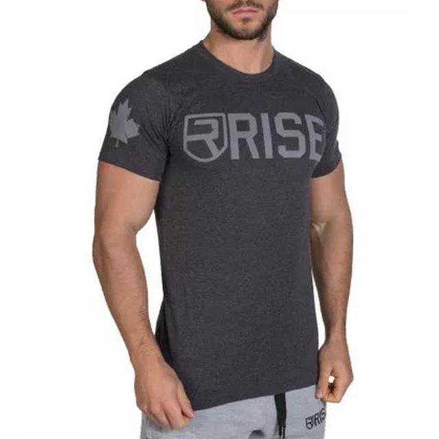 Men's Fitness Gym Tight T-shirts