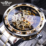 Retro Royal Design Mechanical Skeleton Men's Watches