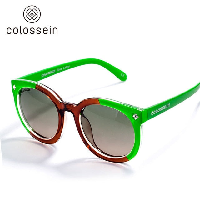 Retro Round Summer Colorful Sunglasses for Women