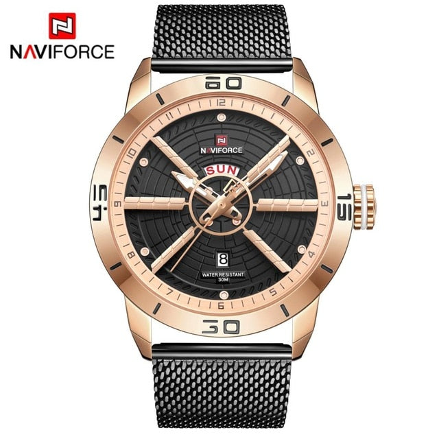 Top Sell-NAVIFORCE Men's Waterproof Watches - Shade & watches