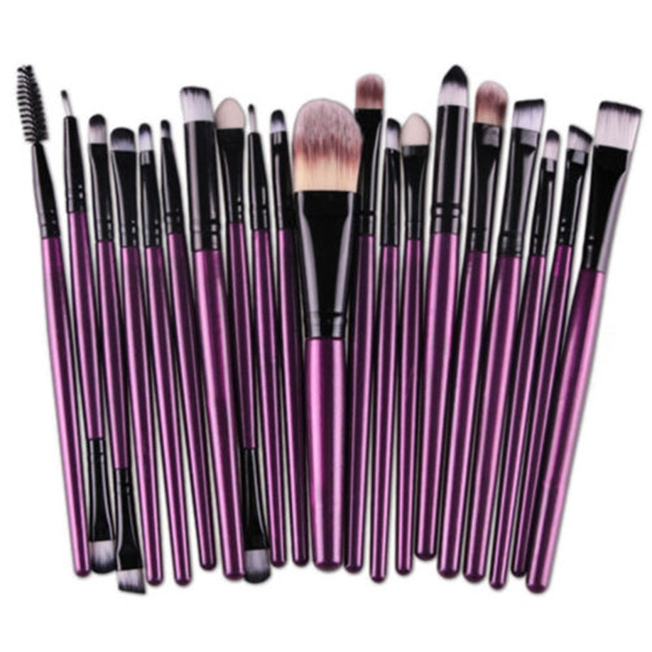 20pcs Set Wooden Goat hair makeup brushes