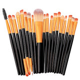 20pcs Set Wooden Goat hair makeup brushes - Shade & watches