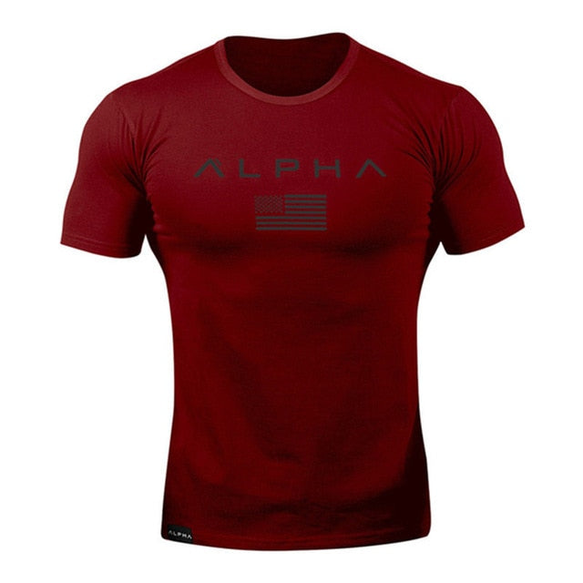 Gym Running Fitness Slim T-shirts short sleeves