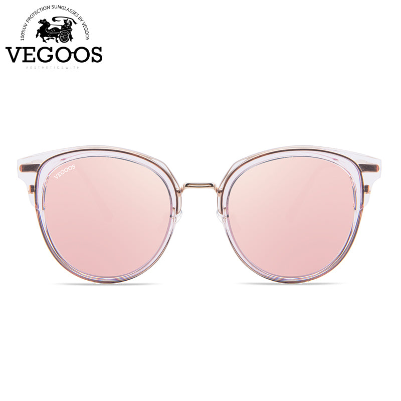 Polarized Round Cat Eye Sunglasses for Women - Shade & watches