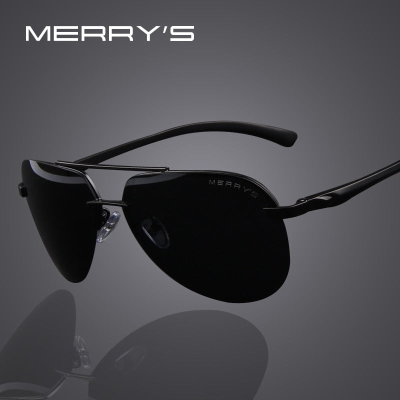 Black Stylish Polarized Sunglasses for Men's