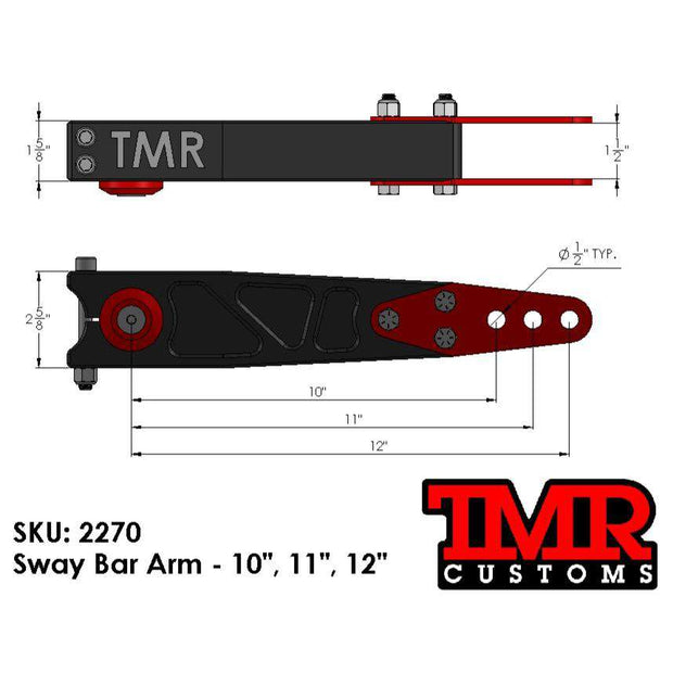 "10""/11""/12"" Sway Bar Arms"