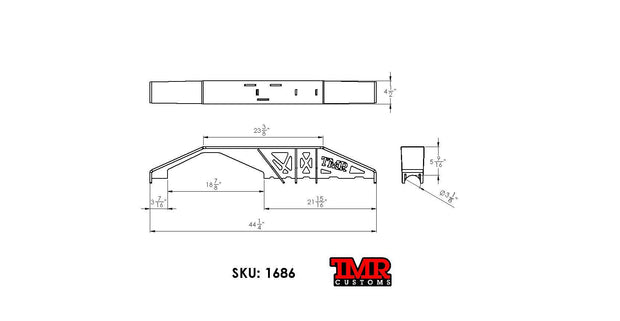 Dana 60 FULL WIDTH Truss Kit - FITS '79-'91 CHEVY Low Pinion