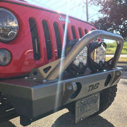 Jeep Wrangler JK Front Bumper with Flat Tube