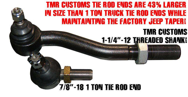 TMR Customs 2.5 TON Jeep JK Steering Kit - 7075 ALUMINUM