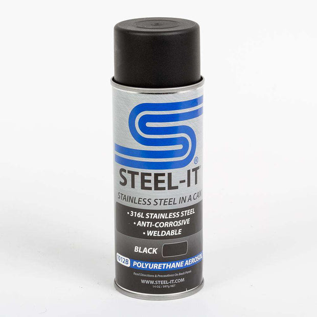 Steel-It Polyurethane Aerosol Paint - BLACK 1012B