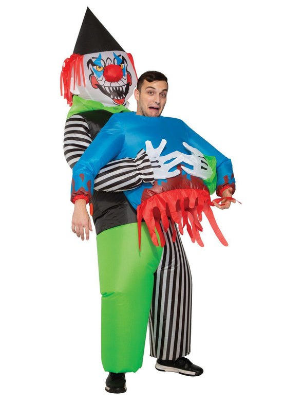 Adult Inflatable Evil Clown with Victim Costume