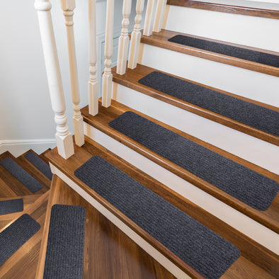 "Stair Treads Non-Slip Soft Carpet Strips for Indoors Safety Anti Slip Step Rug Grips for Wood and Marble Floors to Prevent Slippery Surfaces 15 8"" x 30"" Non Skid Runners"