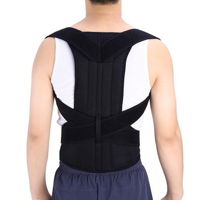 Shoulder Back Waist Support,Yosoo Adjustable Back Support Posture Corrector Brace Posture Correction Belt for Men Women Back Shoulder Support Belt (L)