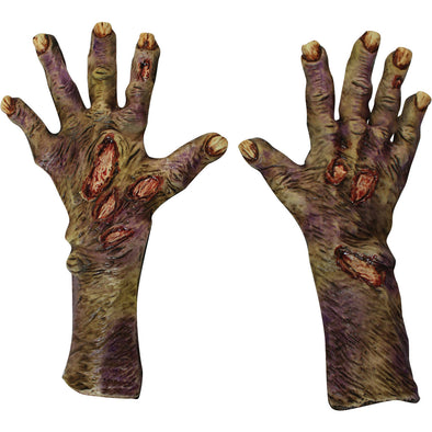 Zombie Rotted Large Latex Gloves Adult Halloween Accessory